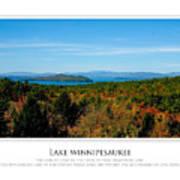 Lake Winnipesaukee - Fall Poster by Jim McDonald Photography