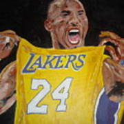 Lakers 24 Poster by Daryl Williams Jr