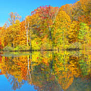 Lakeside Autumn Reflections Nj Poster