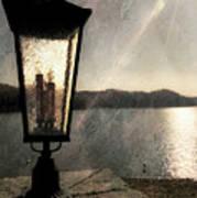 Lakeside Lantern Poster