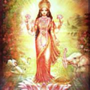 Lakshmi Goddess Of Fortune And Prosperity Poster