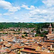 Lamberti Tower View Of Verona Italy Poster