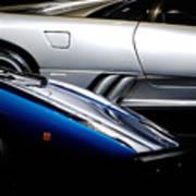 Lamborghini Countach And Lamborghini Diablo Poster