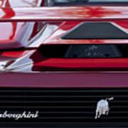 Lamborghini Rear View Poster by Jill Reger