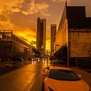 Lamborghini Sunrise Poster