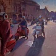 Lambrettas At Winchester Poster