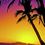 Lanai Sunset II Maui Hawaii Poster