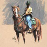 Lance With National Park Service Volunteer Aboard Poster