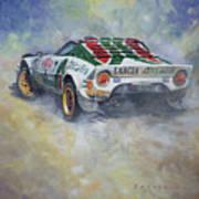Lancia Stratos 1976 Rallye Sanremo Poster