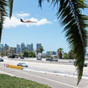 Landing In San Diego Poster