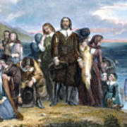 Landing Of Pilgrims, 1620 Poster