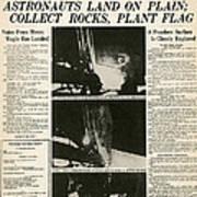 Landing On Moon, 1969 Poster