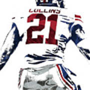 Landon Collins New York Giants Pixel Art 1 Poster