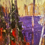 Landscape Abstract In Purple Poster