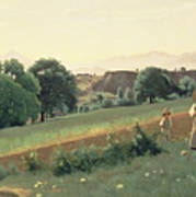 Landscape At Mornex Poster