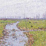 Landscape At Sluis Poster