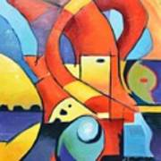 Landscape Figure Abstract Poster