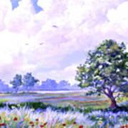 Landscape In Blues Poster