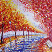 Landscape Painting Gold Alley Poster