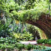 Landscape Rip Van Winkle Gardens Louisiana  Poster
