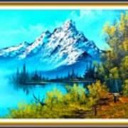 Landscape Scene Near Virginiahurst L B With Alt. Decorative Onate Printed Frame  Poster