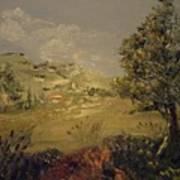 Landscape Study With Pallette Knife Poster