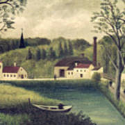 Landscape With A Fisherman Poster