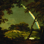 Landscape With A Rainbow Poster by Joseph Wright of Derby
