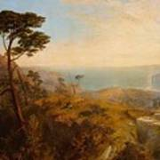 Landscape With Classical Ruins Poster