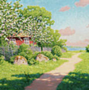 Landscape With Fruit Trees Poster