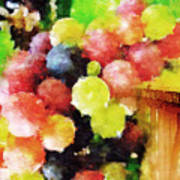 Landscape With Giant Grapes Poster