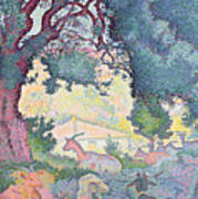 Landscape With Goats Poster