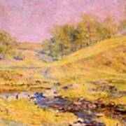 Landscape With Stream Poster