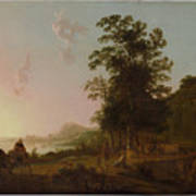 Landscape With The Flight Into Egypt Poster