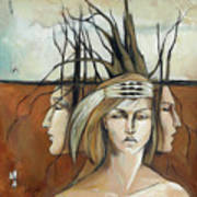 Landscaped Headdress Poster