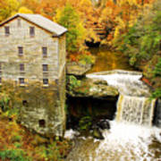 Lantermans Mill In Fall Poster