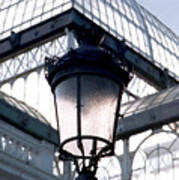 Lantern In Front Of The Crystal Palace, Madrid Poster