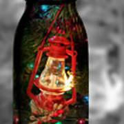 Lantern In Glass Jar Poster