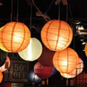 Lanterns 50 Percent Off Poster