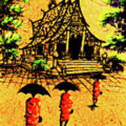 Procession To Temple, Lao Collection Poster