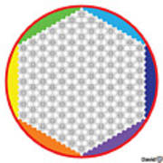 Large 64 Tetra Flower Of Life Poster