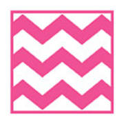 Large Chevron With Border In French Pink Poster