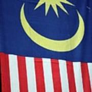 Large Malaysia Flag On Doorway Georgetown Penang Malaysia Poster