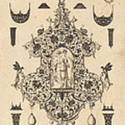 Large Pendant, Temperance Standing At Centre Poster