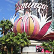 Las Vegas Flamingo Hotel Lotus Blossom Poster by Linda Phelps
