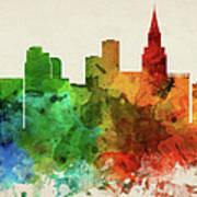 Las Vegas Skyline Panorama Usnvlv-pa03 Poster