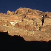 Last Light On Mt Aconcagua Poster