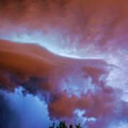 Late Night Nebraska Shelf Cloud 007 Poster