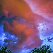 Late Night Nebraska Shelf Cloud 010 Poster