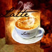 Latte Poster by Lourry Legarde